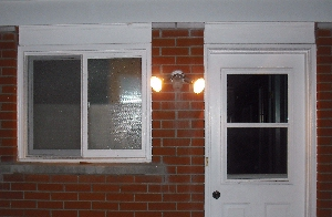 Flood Light Covers The Entire Patio And Backyard