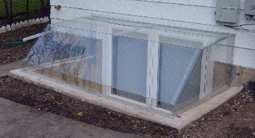 Metal and Clear Plastic Window Well Covers