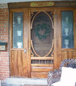 If There Is Not Enough Room You May Be Able To Create More Room By Adding  Another Door Stop. Another Option Is To Hinge The Screen Door Opposite From  The ...