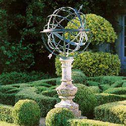 Armillary Sphere Garden Sundial .