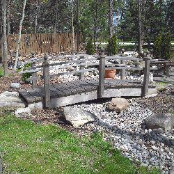 Backyard Bridge Designs wooden garden bridge plans Six Post Arched Garden Bridge